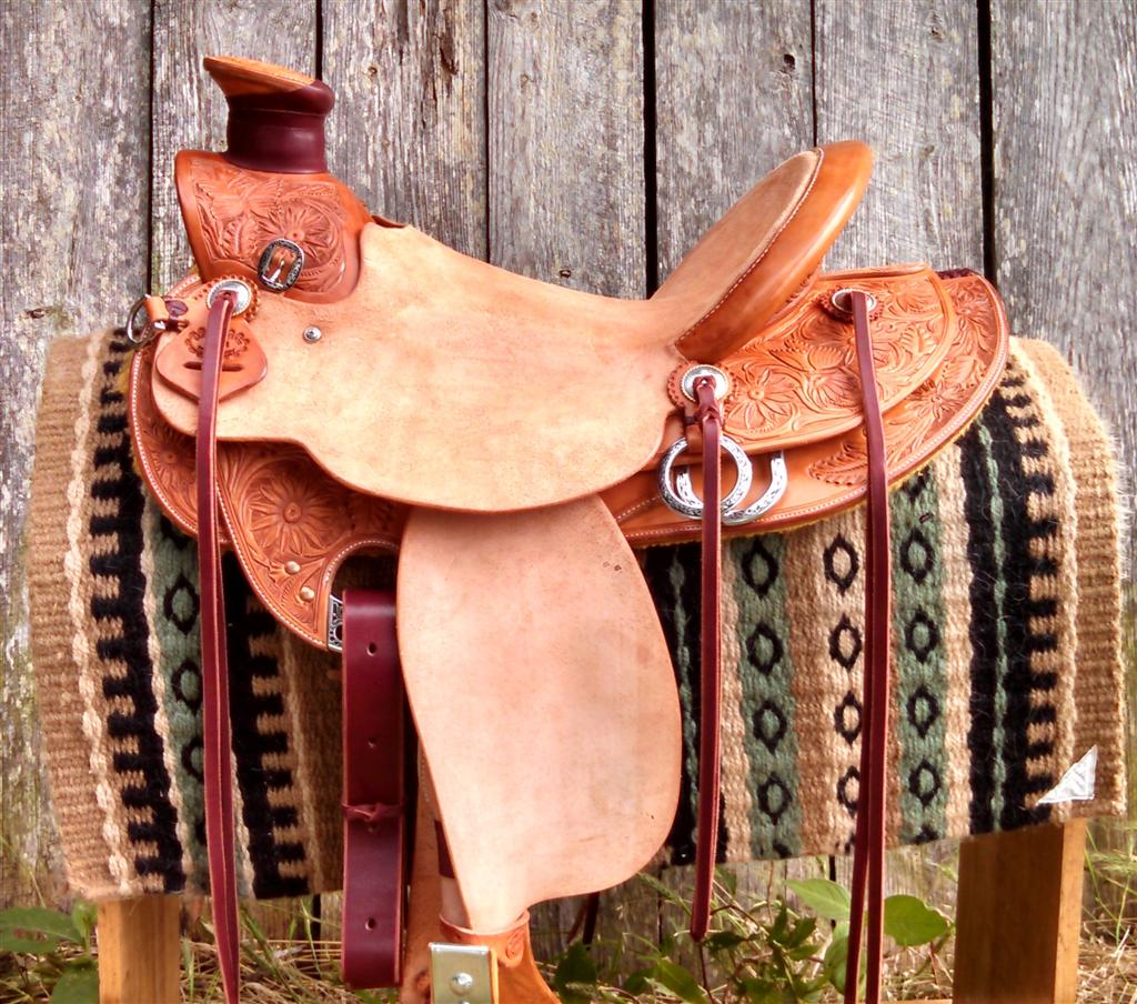 "SOLD! 15 1/4"" Wade Saddle"