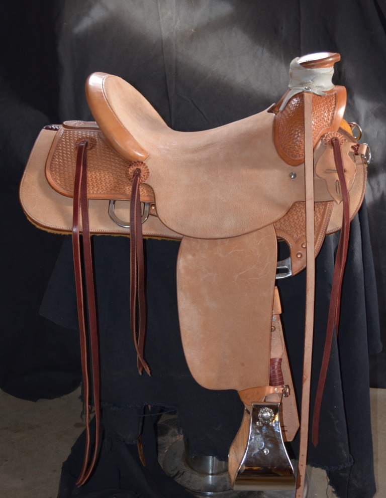 "15 1/2"""" Wood Post Ranch Saddle"